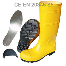 steel toe and sole working safety boots