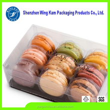 wholesale eco-friendly cardboard folding magnetic clear plastic macaron packaging box wholesale