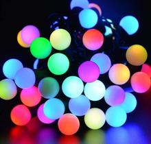 Holiday Decoration 10m 100 Ball RGB LED String light for Wedding Party Fairy Christmas Light