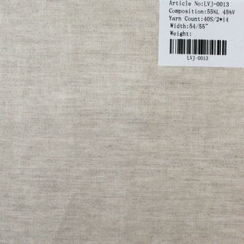 40s/2*14 single nature viscose/linen fabric