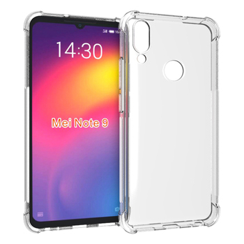 Ultra clear transparent shockproof tpu case for Meizu Note 9 soft back cover