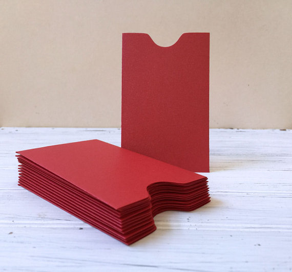 Small envelope custom printing red envelope business cards packaging mini envelope