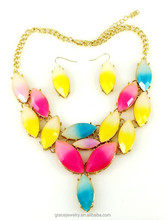 Fluorescent Colorful Resin Import China Jewelry For Girl