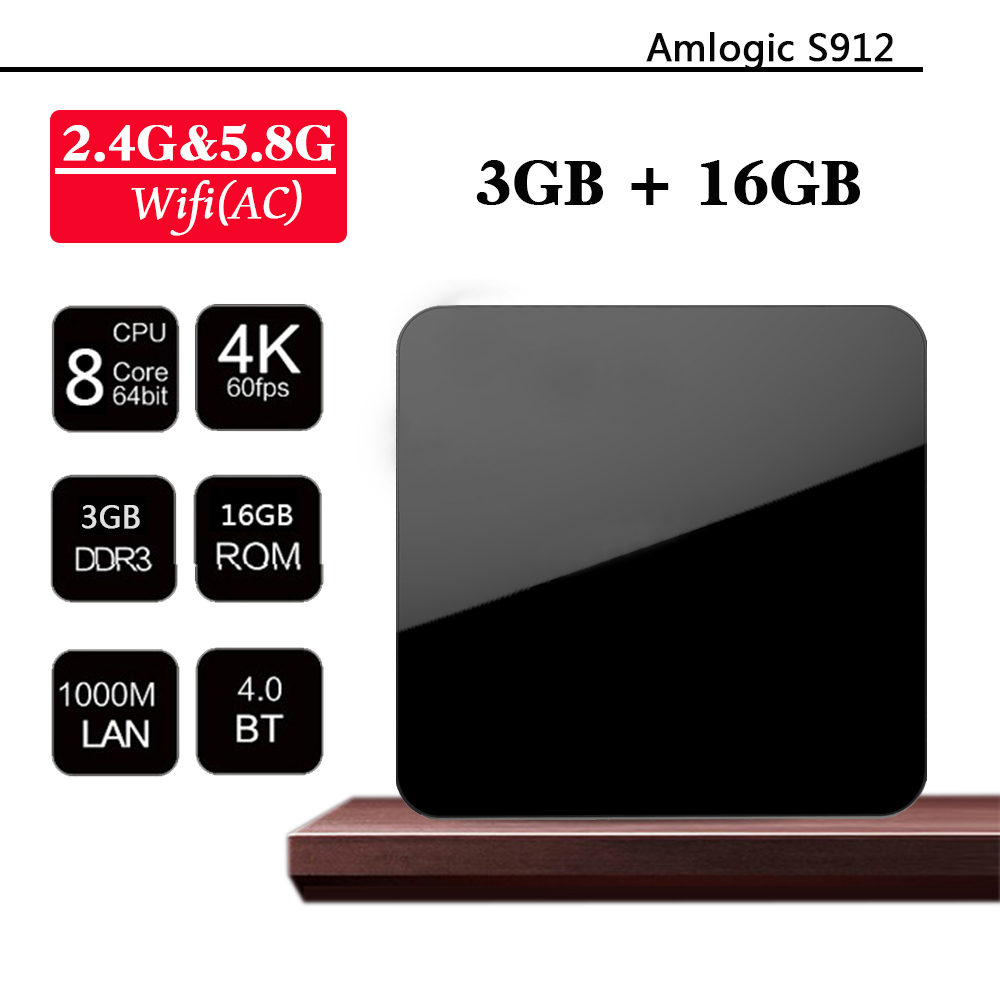 2017 Wholesale Amlogic s912 H96 pro octa core install free play store app google play download android tv box T96pro