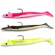 Double Colours 11cm 22g Jig Fish Head Sinking Fishing Lure Vivid Body Jigging Soft Bait