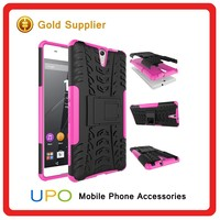 [UPO] China Wholesale 3 in 1 Hybrid TPU + PC Mobile Phone Combo Stand Case For Sony Xperia C5 Ultra