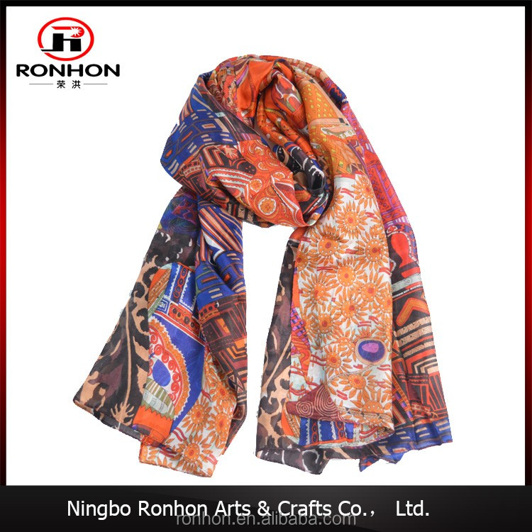 Factory plain warm and comfortable lady fashion scarf, fashionable scarf Manufacturer