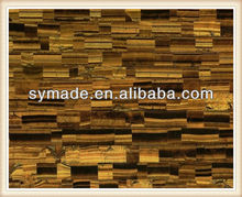 Nature semi precious gem stone polished tiger eye swimming pool tile
