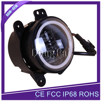 4 inch 30w Jeep Wrangler LED Fog Light with halo ring