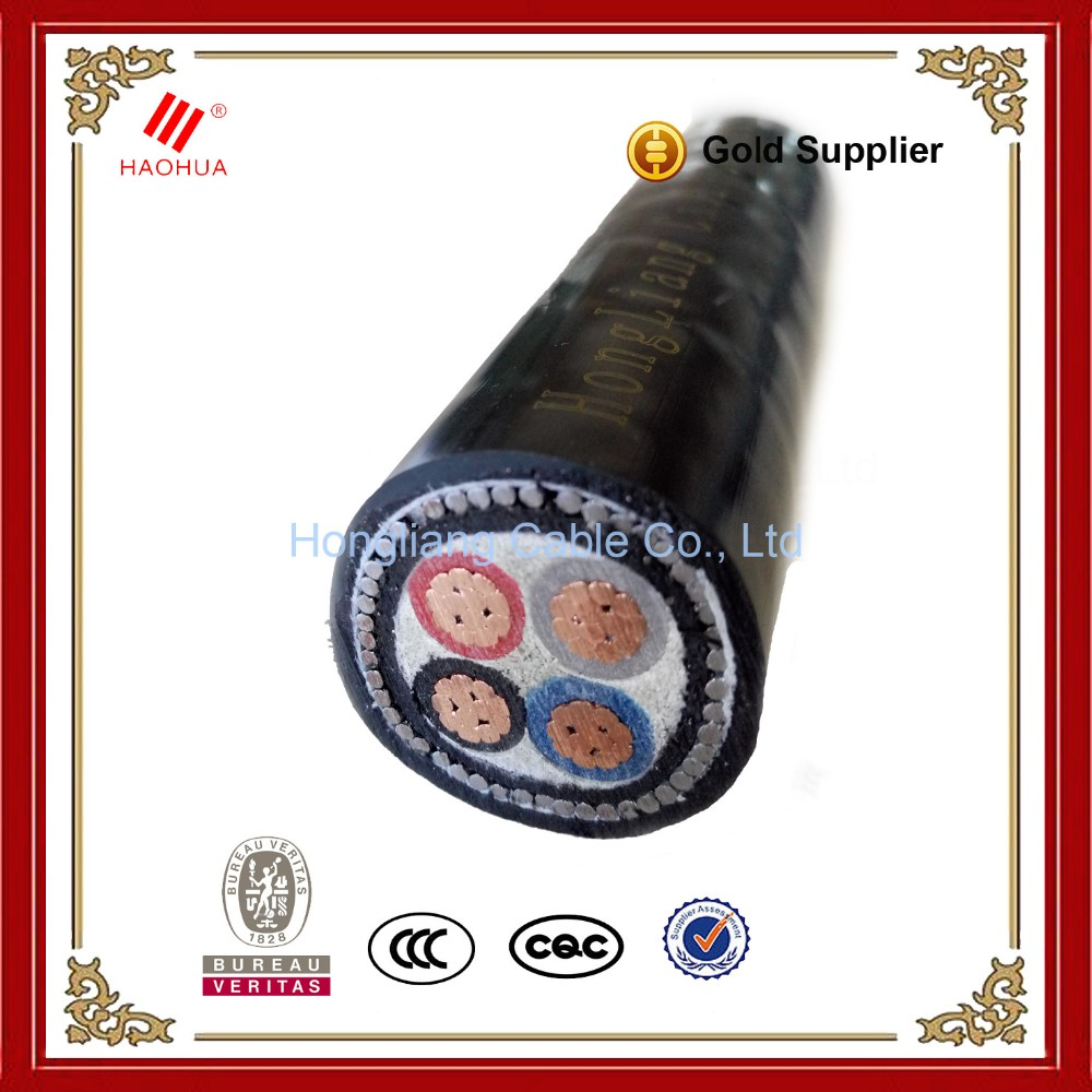 NO.3018- Underground Cable size Low Voltage Power 0.6/1kV CU/XLPE/SWA/PVC Power Cable 2 Core nyy Cable 70mm2