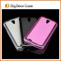 Factory soft touch clear back covers for lenovo s820 case