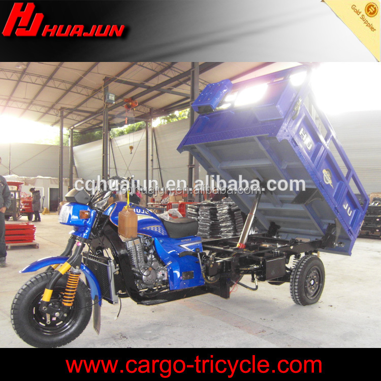 Cargo dump cargo tricycle truck three wheel with hydraulic tipper