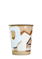 Paper coffee cups with handle from China supplier