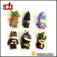 Superhero cartoon character usb flash drive, flash drive usb, cute cartoon 8gb usb flash drive bulk 4g 8g 16g 32g