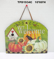 Welcome Sign Harvest Wall Door Plaque Thanksgiving Gifts