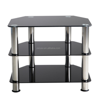Modern Cheap Tempered Glass And Stainless Steel TV Stand
