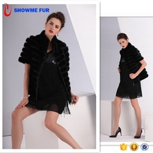 Top Fashion Wholesale Price Black And Brown Mink Fur Coats Women From China