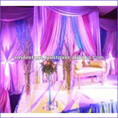 Gasa cortinas con luces suministros para boda for Cortinas con luces