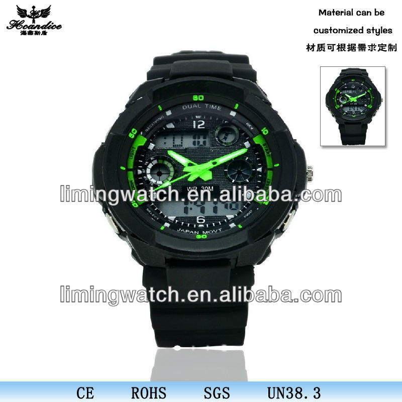 Hot mountaineering outdoor waterproof watch Junior School Sports LED Watch