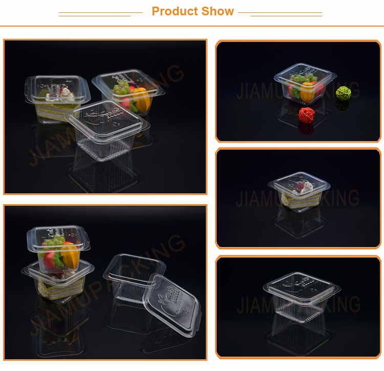 Food grade plastic clamshell fruit packaging box, portable fruit salad container box