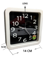 IPC clock table alarm clock with hiding H.264 720P HD WIFI Remote Monitoring Camera for home or office