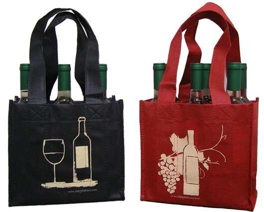 High quality suitable non-woven fabric eco-friendly bottle portable wine bag