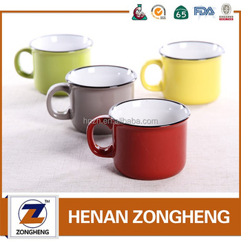 Marlboro cups wholesale ceramic enamel mugs for sale
