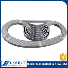 OEM Nonstandard white PU tension dry slitting machine belt for steel or Iron industry