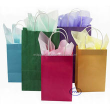 Colorful Kraft Paper Bag Cheap Paper bags with handles