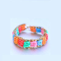 Hot Sell Colorful Rubber Band For Bracelet ,DIY Crazy Color Loom Rubber Band