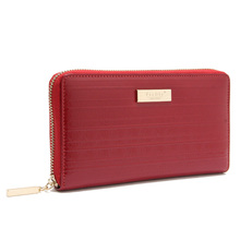 Latest design ladies fashion red color kangaroo leather wallet