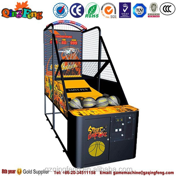 2015 popular hot sale coin operated kids basketball game NA-QF057 coin operated marble game machine