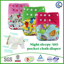 baby night cloth diaper Leak Guard Plain Woven Feature fitted cloth diaper manufacturer
