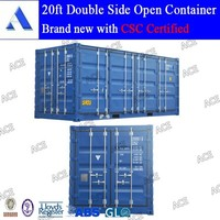 20 feet double opening doors container (side loading container)