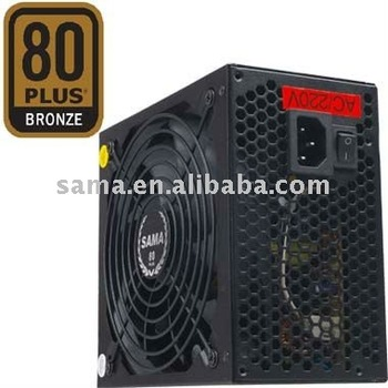 12V switching ATX power supply 500W with 80 plus