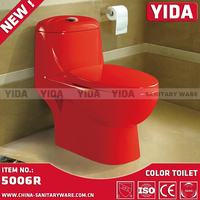 New design top selling custom color toilet set type wc toilet tissue wash down one piece toilet with cheap price