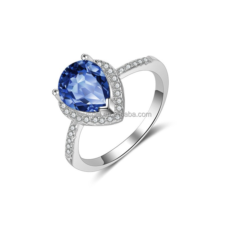 Gemnel Jewelry Luxury Platinum Natural Gemstone Stone Wedding Ring