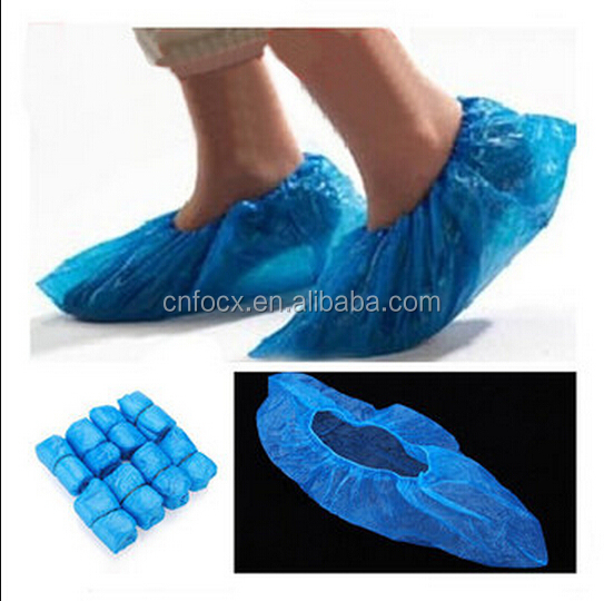 100Pcs Disposable Plastic shoes covers / disposable rain shoe cover / waterproof rain boot/shoe covers