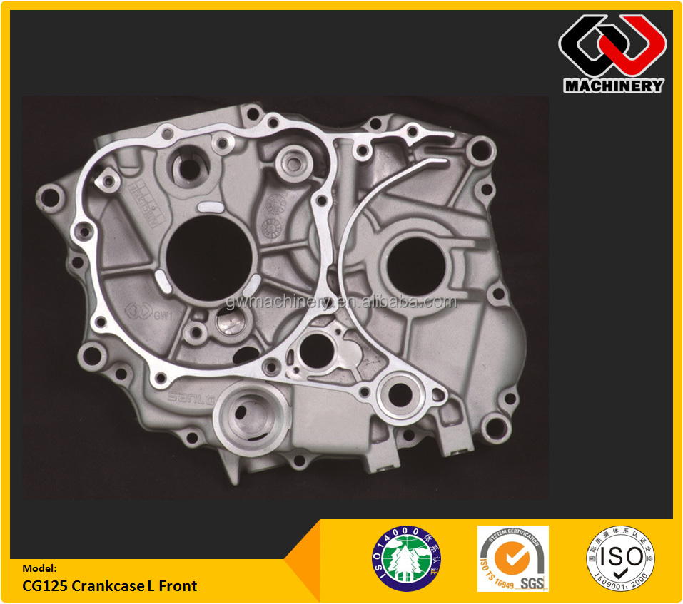 15 years Manufacturer Aluminum Die Cast CG125 Crankcase - Maching Motorcycle accessory aluminum die casting
