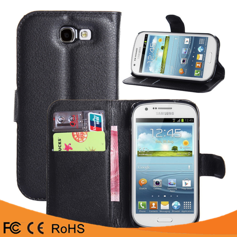 Factory price leather flip PU case back cover case For Samsung Galaxy Express I8730