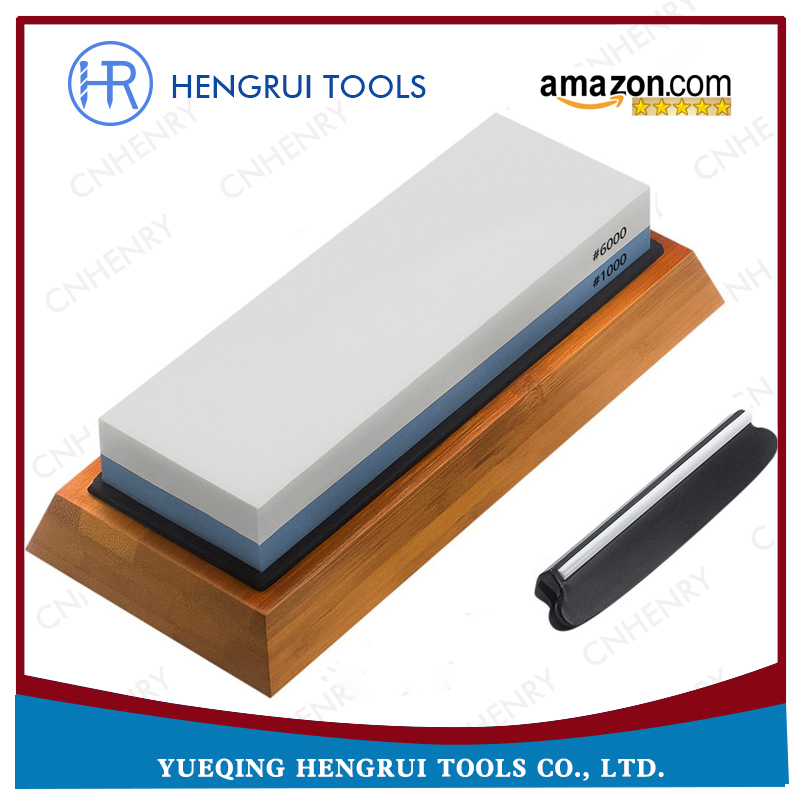 Special double sided knife sharpening stone set