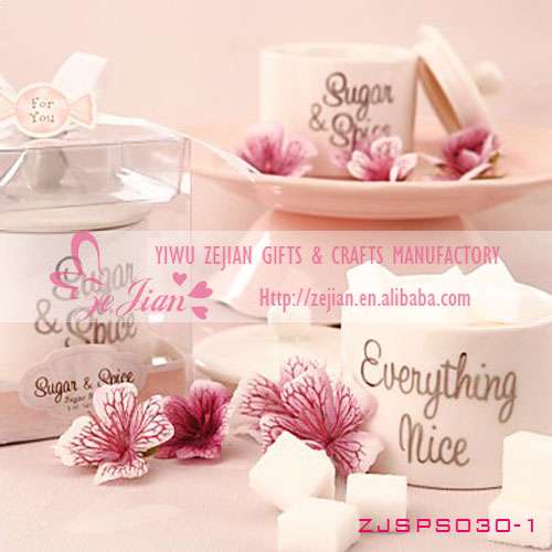 """Sugar & Spice & Everything Nice"" Sugar Bowl Tea Party Wedding Favor"
