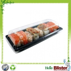 Disposable plastic freezer food sushi box container