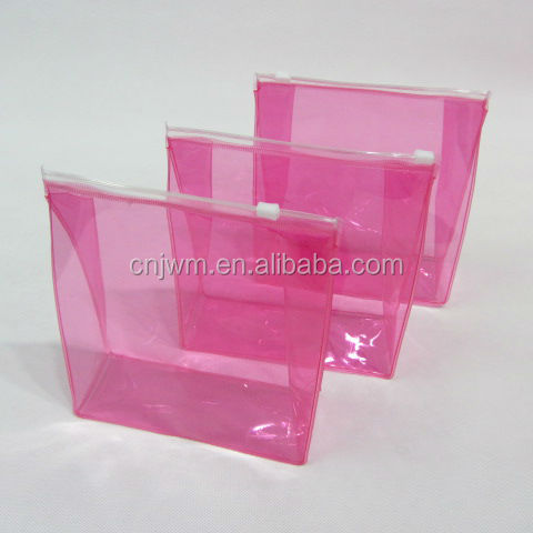 Wholesale waterproof transparent custom size pvc cosmetic makeup brush bag
