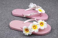 SUMMER Latest ladies slipper designs women flip flop slipper with flower