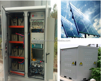 DDTE041 (Solar Power + Generator + Batteries) Integrated Outdoor Telecom Cabinet For Remote Area