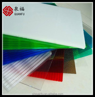 blue-green fast to install 10-year warranty bayer pc material solar panel colored polycarbonate sheets