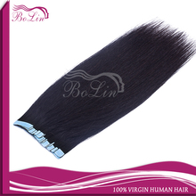 "Factory wholesale100% brazilian tape hair,skin weft extension 8""-30inch in stock"