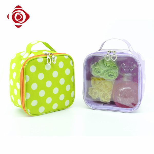 2016 Wholesale Polyester Cosmetic Bag Claer Makeup Bag For Travel