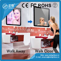 Promotional items ABS frame led light box sensor advertising magic mirror